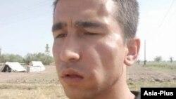Таджикский журналист Абдулло Гурбати, избитый неизвестными. 29 мая 2020 года.