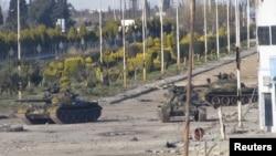 حضور نیروهای نظامی در نزدیکی شهر حمص در سوریه