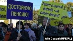 Marşul sindicaliştilor la Chişinău, 31 octombrie 2012