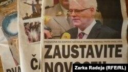 """Naslovna strana tjednika """"Novosti"""" u Hrvatskoj"""
