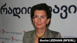 Лидер партии «Демократическое движение – Единая Грузия» Нино Бурджанадзе
