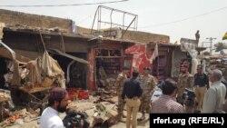 Pamje pas eksplodimit të sotëm në Kueta të Pakistanit