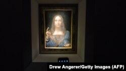 Полотно Леонардо да Винчи «Спаситель Мира».