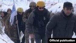 ATƏT-in müşahidə missiayası təmas bölgəsində monitorinq zamanı, 16 fevral 2017