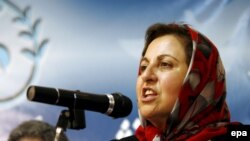 Shirin Ebadi in Tehran in July