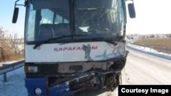 Автобус после ДТП. Иллюстративное фото.