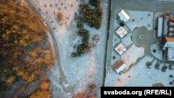 Бульбаш-хол, здымак з дрону студзеньь 2018 году