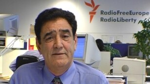 RFE/RL – A video grab of Radio Free Afghanistan's Hashem Mohmand, from the briefing on Afghan-Pakistani security, Prague, 01Jul2008