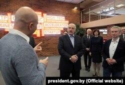 Александр Лукашенко на встрече с представителями IT-сферы в Парке высоких технологий, 12 апреля 2019 года