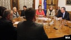 Една од координативните средби кај претседателот на Собранието на Република Македонија, Трајко Вељаноски.
