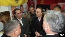 Заеднички предизборен штаб на ВМРО-ДПМНЕ и на СДСМ во Кичево.