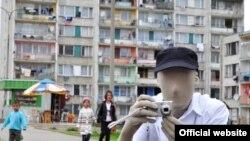 """Человек без лица - один из символов проекта чешских современных художников """"Гражданин К."""""""