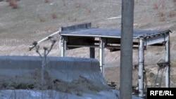 Қызылағаштағы су қоймасының тасқыннан кейінгі көрінісі. Алматы облысы, 19 наурыз 2010 жыл.