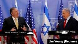 Američki državni tajnik Mike Pompeo i premijer Izraela Prime Minister Benjamin Netanyahu u Jeruzalemu, 20.marta 2019.