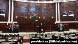 Илҳом Алиев дар маросими савганди президентӣ - 18 апрели соли 2018