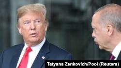 Дональд Трамп і Реджеп Таїп Ердоган на зустрічі в Брюсселі, липень 2018 року