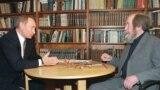 Russia – Culture / Politics – President Vladimir Putin (L) and Aleksandr Solzhenitsyn (R), Troitse-Lykovo (near Moscow), 21Sep2000
