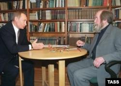 Russian President Vladimir Putin (left) with Solzhenitsyn in 2000.