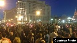 Акция в поддержку Алексея Навального на Манежной площади