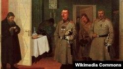Леанід Саламаткін, «Славільшчыкі-гарадавыя» (1882).