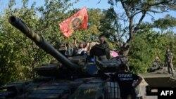 Донецкдаги россияпараст айирмачилар акс этган сурат, 2014 йилнинг 31 августи.