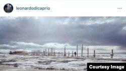 صفحه اینستاگرام لئوناردو دیکاپریو با تصویری از بندر شرفخانه