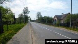 Пустынная цэнтральная вуліца Баркалабава