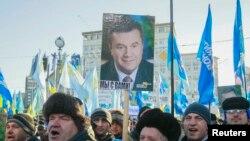 Protesti podrške vlastima u Ukrajini 14. decembra