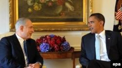 U.S. President Barack Obama (right) and Israeli Prime Minister Binyamin Netanyahu met in New York last year.