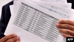 Сергій Лещенко із документами, що свідчать про виплати із «чорної каси» Партії регіонів, 19 серпня 2016 року
