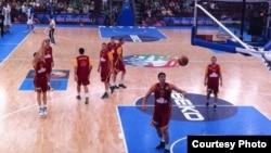 Македонската кошаркарска репрезентација на ЕП во Литванија.