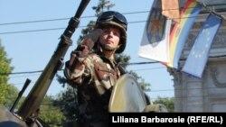 La parada militară de Ziua independenţei, 27 august 2011, Chişinău.