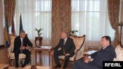 Nedjeljni sastanak Valentina Inzka sa Miloradom Dodikom i Draganom Čovićem, Foto: Erduan Katana