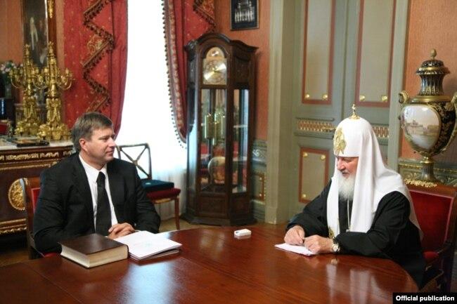 Зустріч патріарха Кирила з міністром юстиції Росії Андрієм Коноваловим, 3 липня 2009 року