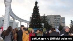 Святкування Нового року в Саках, 2015 рік