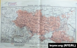 Карта украинских земель в первые два десятилетия ХХ века
