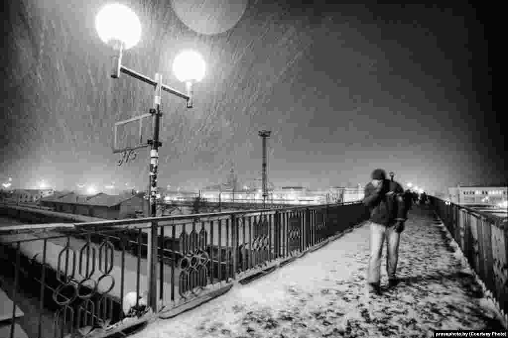 The morning Minsk-Brest trainby photographer Viktar Baykouski.