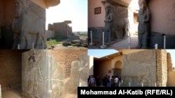 Восстановленные на территории Нимруда находки на фотографиях 2012 года
