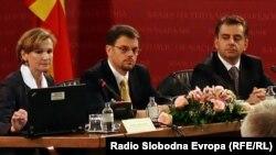 Претставници на Светската Банка и министерот за финансии Зоран Ставревски