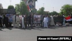 النجف: تظاهرة لذوي ضحايا الصقلاوية