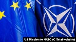 Флаги ЕС и НАТО