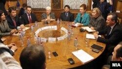 Координативна средба кај претседателот на Собранието на РМ, Трајко Вељаноски