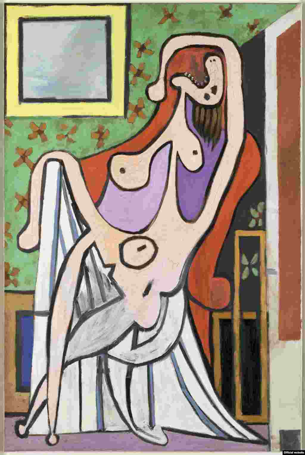 Nud mare în fotoliu roșu. 5 mai 1929. Musée national Picasso-Paris Dation Pablo Picasso, 1979. MP113 Droit auteur : ©Succession Picasso, 2017 Crédit photo : ©RMN-Grand Palais (Musée national Picasso-Paris) / Mathieu Rabeau