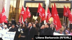 Protestele socialiștilor la Chișinău
