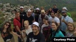 Туристы из Италии на Северном Кавказе