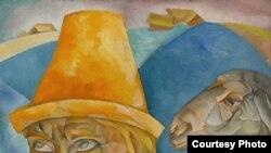 Борис Дмитриевич Григорьев (1886—1939) «Чабан» («Портрет Н.Клюева»); 1920 год; лот: $2,500,000—$3,500,000
