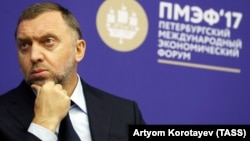 "Oleg Deripaska has called the U.S. decision to impose sanctions on him ""groundless, ridiculous, and absurd."" (file photo)"