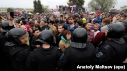 Митинг в Петербурге был одним из самых массовых