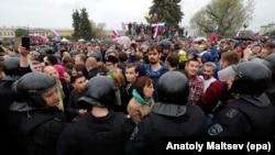 Rusiyada etiraz aksiyası, arxiv fotosu