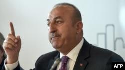 Архивска фотографија,турскиот министер за надворешни работи Мевлут Чавушоглу